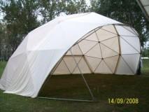 model  kupole GEO NET 12M kao pozornica iznajmljena za potrebe   ZAGREBI EKO  FESTIVALA U ZAGREBU-BUNDEK