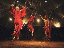 GEODETSKA KUPOLA (GEODESIC DOME)-Bundek ZAGREB   IX 2008.Predstava plesne skupine iz Izraela teatar VERTIGO DANCE COMPANY - predstava