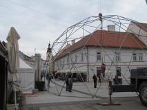 Montaža konstrukcije velike kupole 14.4 m promjera,Čakovec