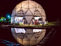 KUPOLA 14.4 m promjera festival elektronske glazbe FORESTLAND BREZJE 2016 i 2017 g.