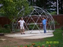 ZOO ZAGREB Konstrukcija geodezijske kupole bez pokrova(moguć pokrov ceradom,suncobranskim