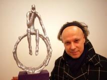 DVA ŠAMPIONA-skulptura  s izložbe - VARAŽDIN -galerija AJNGEL