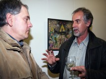 Darko Rušec i Josip Dodlek-fotografija s izložbe Borisa Leinera galerija Ajngel VŽ